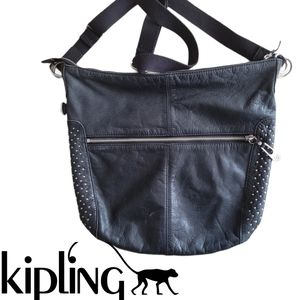 KIPLING perfect studded leather crossbody